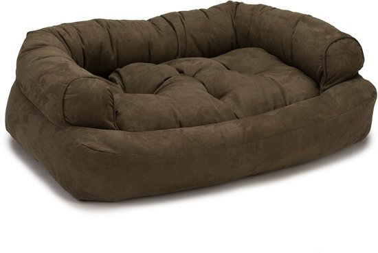Snoozer Pet Products - Overstuffed Sofa - Hondenbed - Large Dark Chocolate - 102 cm
