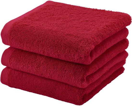Handdoek set/3 LONDON kleur chili pepper-142 (55x100cm)