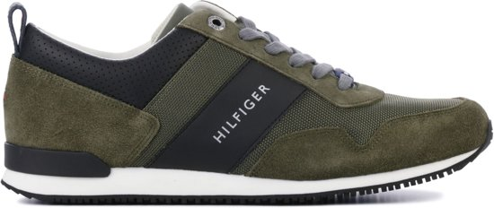 Tommy Hilfiger Mannen Sneakers -  Iconic material - Groen - Maat 42