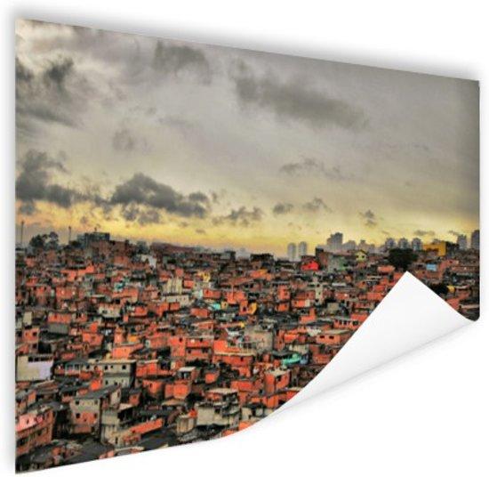 Favela Paraisopolis Poster 180x120 cm - Foto print op Poster (wanddecoratie woonkamer / slaapkamer) / Steden Poster XXL / Groot formaat!
