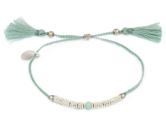 Scmyk armband BS-227 A Velvet Crown - zilverkleurig - verstelbaar in lengte