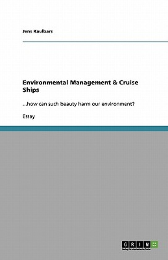 Environmental Management & Cruise Ships