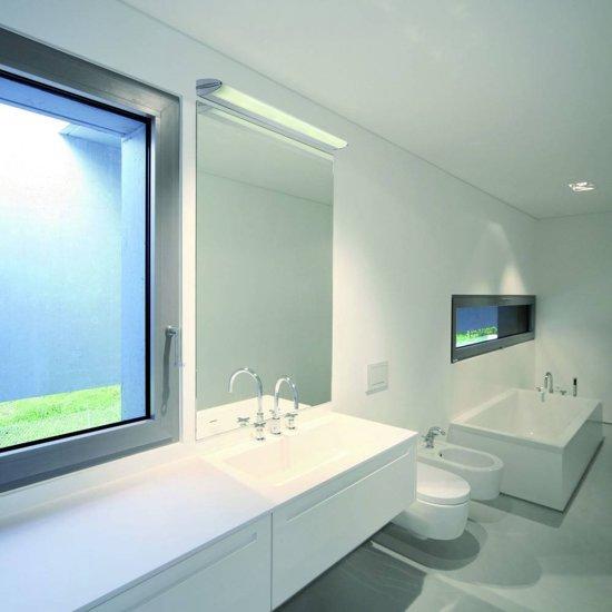 Siba wand plafond badkamer 90 cm voor g5 t5 ip44 aluminium verchroomd - Afbeelding voor badkamer ...