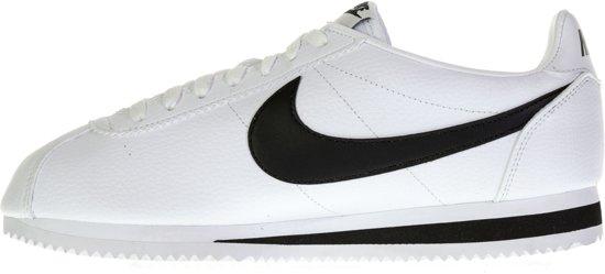 Classic Mannen Leathersportschoenen Cortez 42 Wit Maat zwart Nike dqHwXd