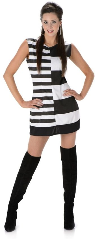 Zwart Wit Jurkje.Bol Com Verkleedkleding Jurkje Retro Zwart Wit Speelgoed