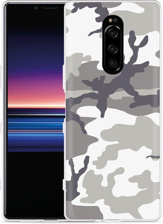 Sony Xperia 1 Hoesje Army Camouflage Grey