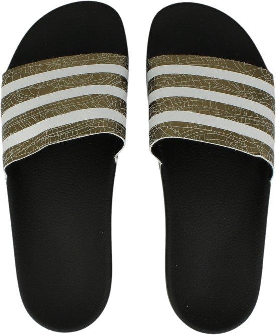79792fb8641 adidas ADILETTE W S78861 - slippers-sandalen - Vrouwen - zwart/zwart - maat