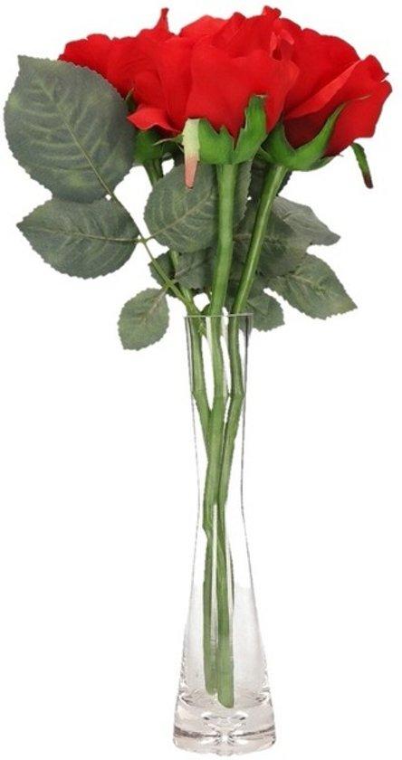 Rozen In Vaas.Bol Com Valentijnscadeau 3 Rode Rozen In Vaas