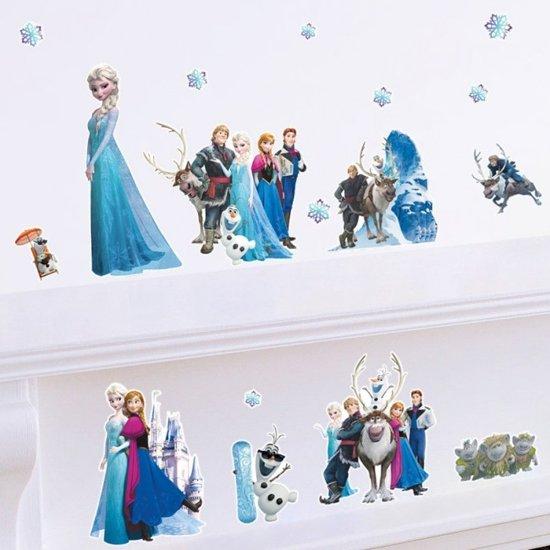 Stickers Kinderkamer Disney.Bol Com Mooie Muursticker Disney Frozen Elsa Anna Olaf Sven