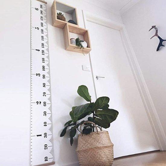 Oak's First Groeimeter voor kinderen en baby's | Lengte meter | Decoratie kinderkamer | 200 cm