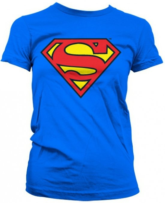 Superman logo t-shirt dames S