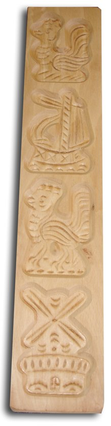 Kitchen Basics Speculaasplank 4 figuren - Beukenhout - incl. Recept