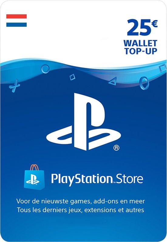 25 euro PlayStation Store tegoed - PSN Playstation Network Kaart (NL)