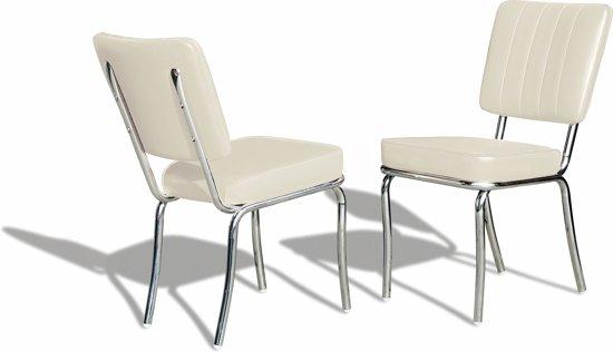 Witte Eetkamer Stoel : Bol.com bel air retro eetkamerstoel co 25 off white