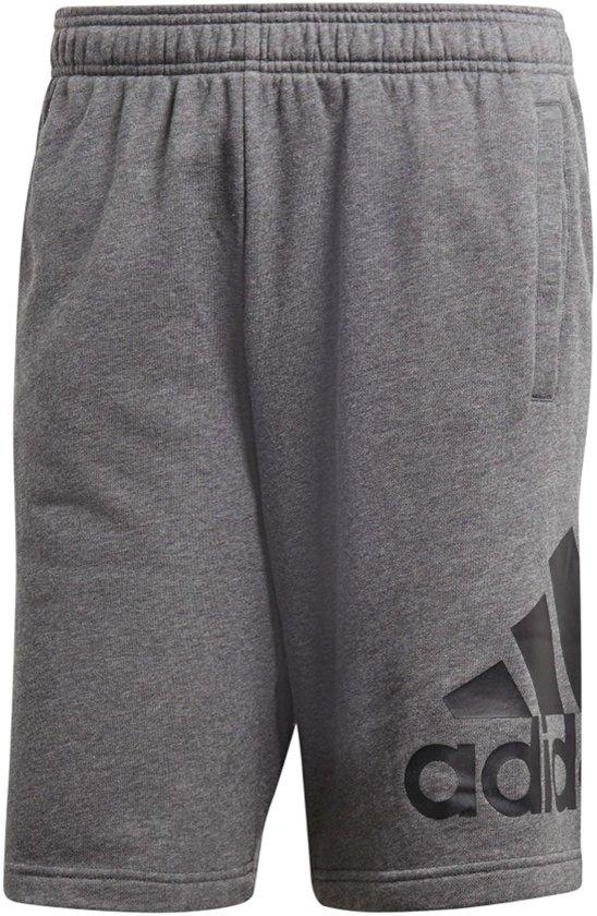 adidas Essentials Chelsea Big Logo Jogging Short Heren  Sportbroek - Maat S  - Mannen - grijs/zwart