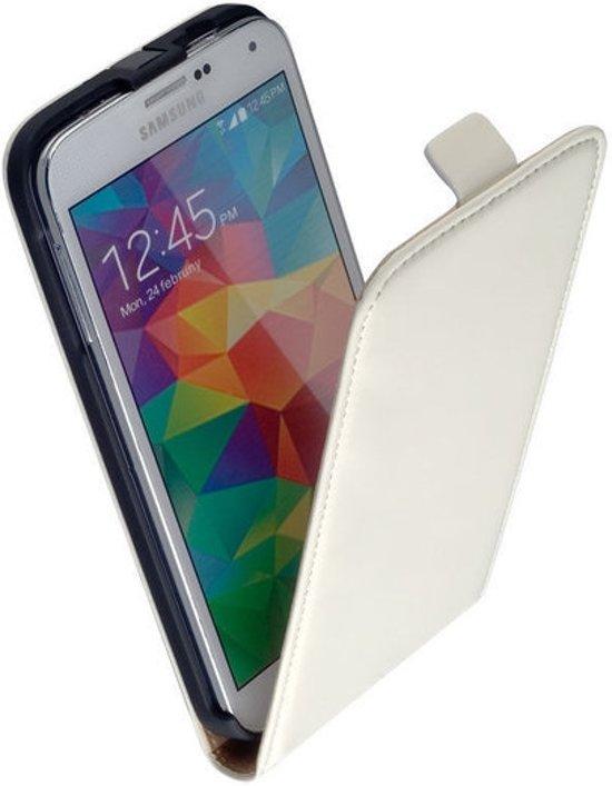 Samsung Galaxy S6 Leder Flip Case Wit