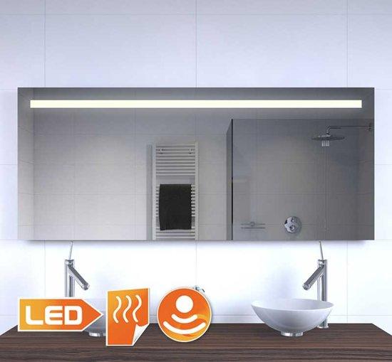 160 cm brede badkamer spiegel met verlichting verwarming en sensor
