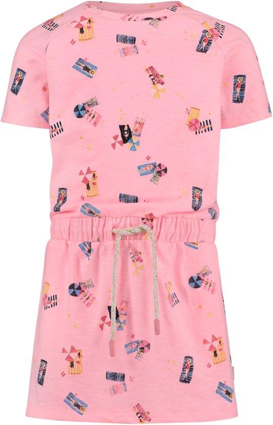 7f4d23c2f6bb5c Noppies Meisjes Korte mouwen jurk en all over print Roanoke - Soft Pink  Neon - Maat