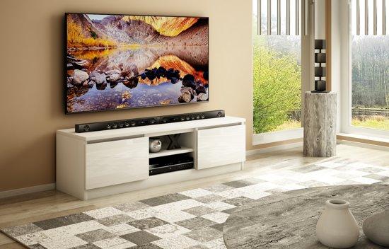 Az Home Tv Kast Tv Meubel Murillo 120 Cm Wit Hoogglans Wit