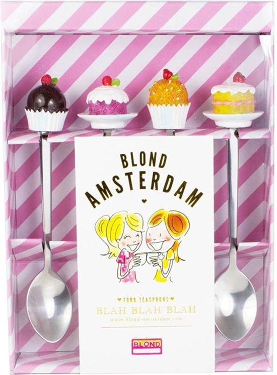 Blond Amsterdam Even Bijkletsen - Theelepels - 4 Stuks
