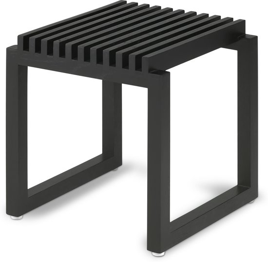 bol.com | Stoel - Badkamerkruk zwart Eiken Skagerak / kruk / douche ...