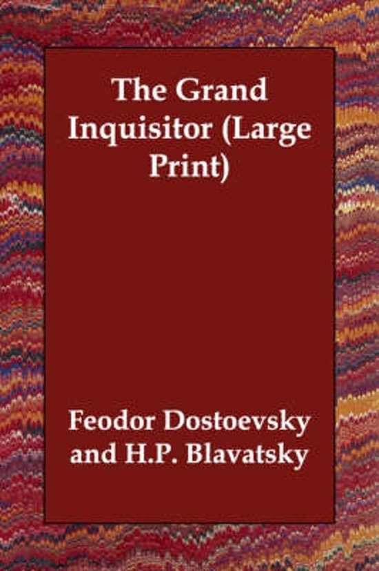 Bol The Grand Inquisitor 9781406832679 Fyodor Mikhailovich