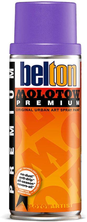 Molotow Belton Premium Paars / Grape - 400ml spuitverf met halfglans afwerking