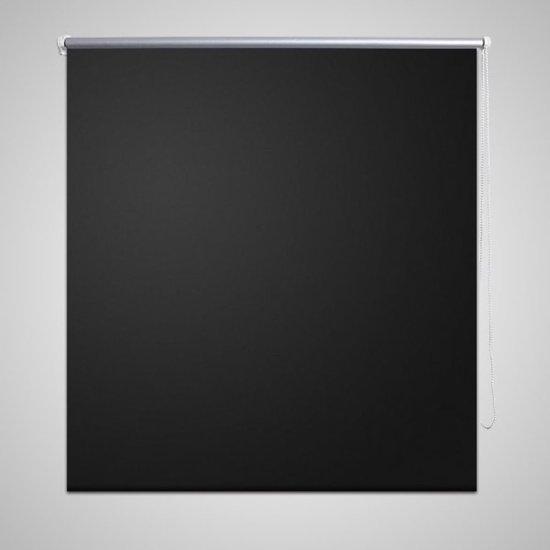 vidaXL - Wonen Rolgordijn - Verduisterend blackout 100 x 230 cm - zwart 240159