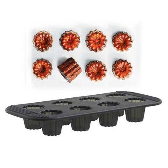 Siliconen bakvorm, 8 canalé cakejes - Mastrad