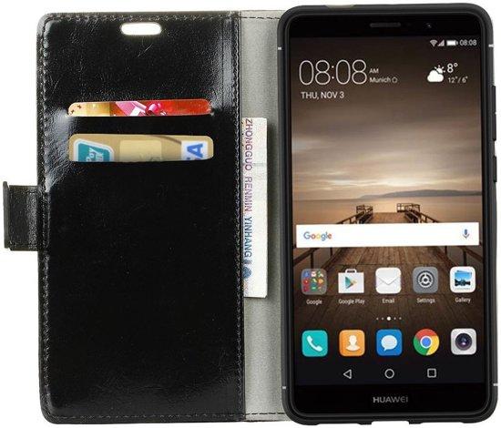 Huawei Mate 9 Stijlvol Portemonnee Hoesje Zwart in Diermen