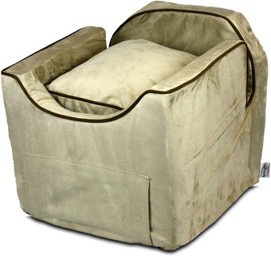Snoozer Lookout - Autostoel - Autozitje voor honden - Small 48x38x43 cm - Buckskin - Met lade