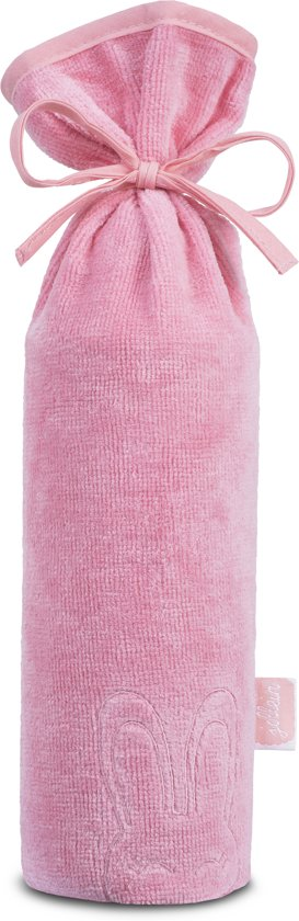 Jollein Sweet bunny kruikenzak velvet terry coral pink