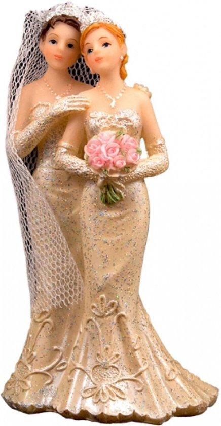 Bruidstaart Van Toiletpapier.Bruidspaar Taart Decoratie 2 Vrouwen