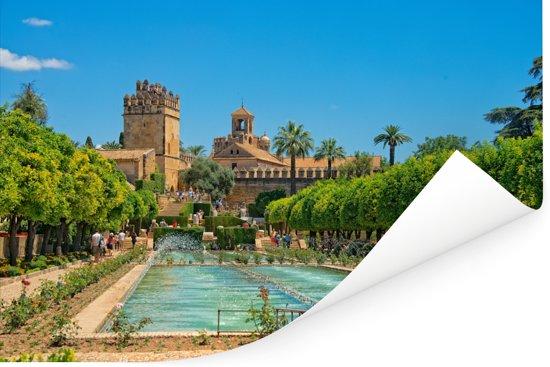 Zomers plein met groene bomen in Spaanse stad Cordoba Poster 30x20 cm - klein - Foto print op Poster (wanddecoratie woonkamer / slaapkamer) / Europese steden Poster