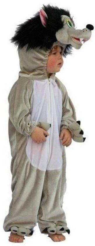 Pluche wolf kostuum voor kinderen 128