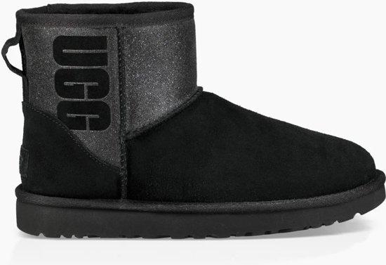 Ugg Classic Mini Ugg Sparkle boots zwart glitter maat 37