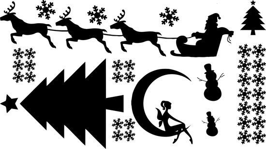kerst raam stickers kerst figuurtjes