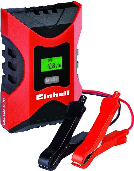 Einhell Acculader CC-BC 6 M - Laadvoltage: 6/12 V - Laadstroom: 6 A / 2A - Geschikt voor accu's van 3 - 150 Ah