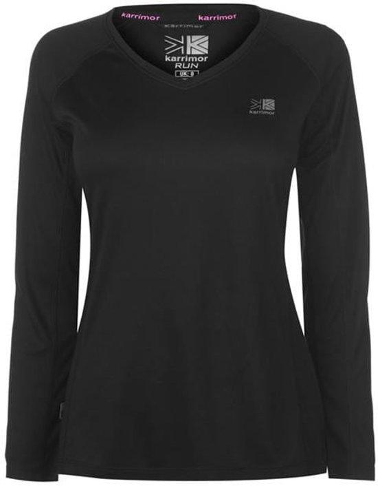 Karrimor Hardloop Shirt Lange Mouw - Runningshirt - Dames - Zwart - XL (16)