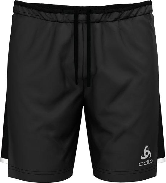 Odlo Hardloopbroek Zeroweight Ceramicool 2-In-1 Shorts - Black - S
