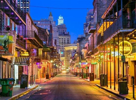 Papermoon Bourbon Street New Orleans Vlies Fotobehang 350x260cm 7-Banen
