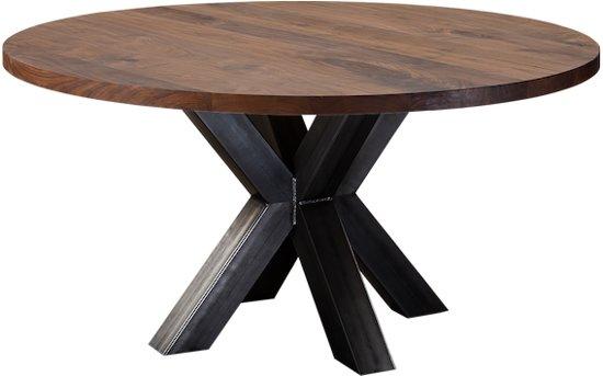 Ronde Eettafel 130 Cm Eiken.Table Du Sud Noten Ronde Tafel Xx Metaal 130 Cm