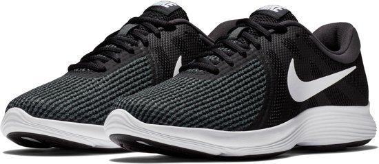 Nike Revolution 4 Eu Heren Sportschoenen - Black/White - Maat 43