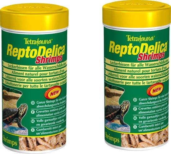 Tetra Fauna voordeelverpakking 2 stuks Reptodelica Shrimps 250 ml garnalen