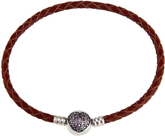 Lederen armband Lengte:19 cm