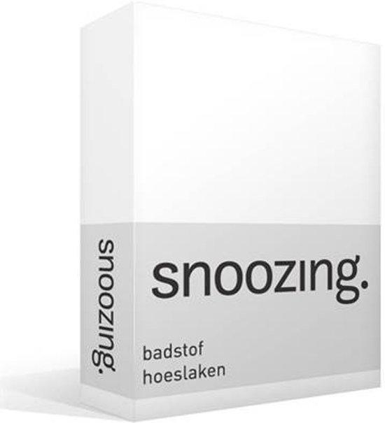 Badstof Hoeslaken 200x200.Snoozing Badstof Hoeslaken Wit Lits Jumeaux 180x200 220 Cm Of 200x200 Cm 05 Wit
