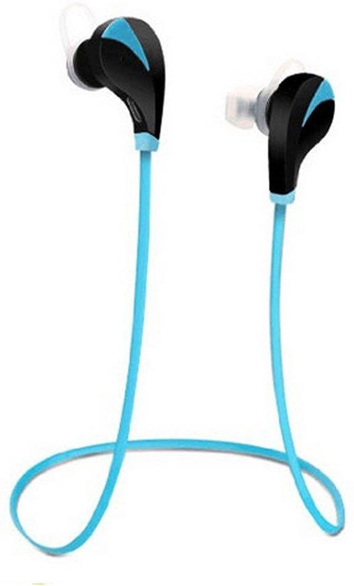 Draadloze In-Ear Oordopjes Bluetooth Headset - Sport Headset - Wireless Oortjes - Draadloos Telefoneren en Muziek Luisteren - Blauw in Stevoort
