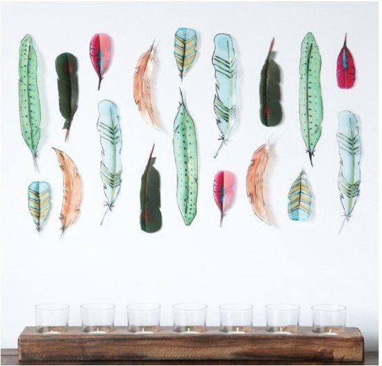 bolcom umbra wanddecoratie veren feather