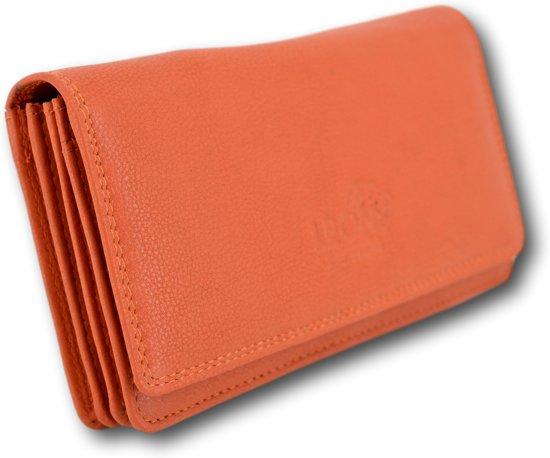 LeonDesign - 16-W784- 14 - portemonnee - oranje - leer