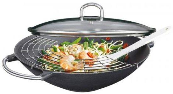 """Gietijzeren wok-set """"Premium"""" - 36cm - Küchenprofi"""